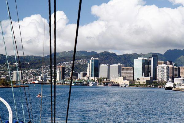 Попрощавшись с Гавайями «Паллада» взяла курс на родной порт Владивосток