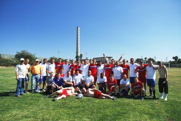 Товарищеский футбольный матч между командами УПС «Паллада» и БОХР США