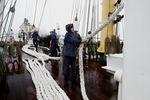 Швартовые работы перед заходом в порт Ситке